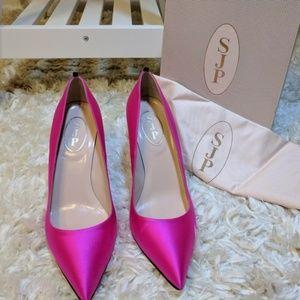 🆕 SJP Sarah Jessica Parker Fawn 70mm Pink Pumps